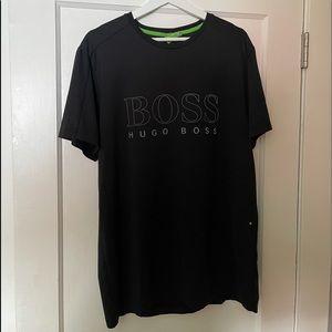 Hugo Boss short sleeve black slim fit shirt used